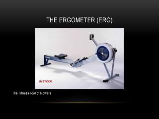 The ergometer (erg)