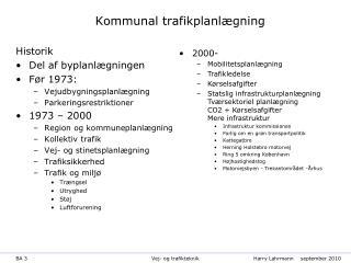 Kommunal trafikplanlægning