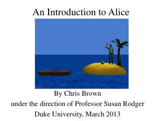 An Introduction to Alice