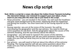News clip script