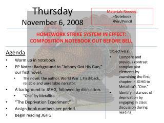 Thursday November 6, 2008