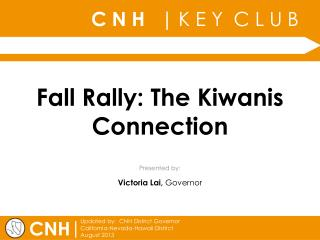 Fall Rally: The Kiwanis Connection