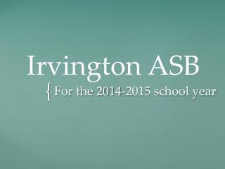 Irvington ASB