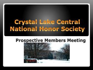 Crystal Lake Central  National Honor Society