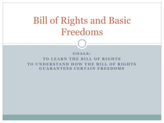 Bill of Rights and Basic Freedoms