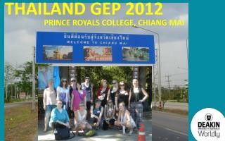 Thailand GEP 2012