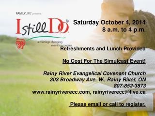I Still Do Rainy River ECC