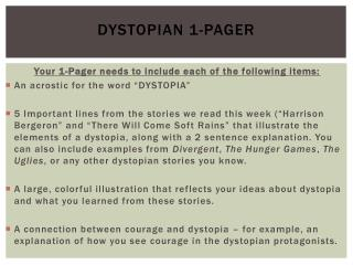 Dystopian  1-Pager