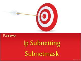 Ip Subnetting Subnetmask