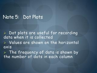 Note 5:   Dot Plots
