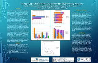Trainee's Use of Social Media: Implications for AUCD Training Programs
