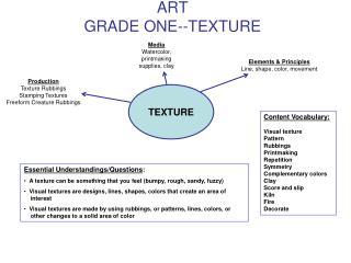 ART GRADE ONE--TEXTURE