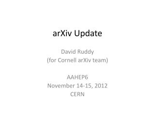 arXiv  Update