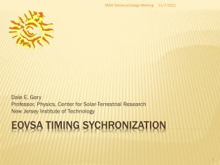 EOVSA  timing  sychronization