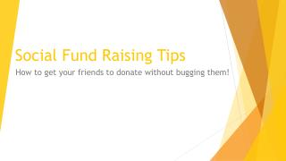 Social Fund Raising Tips