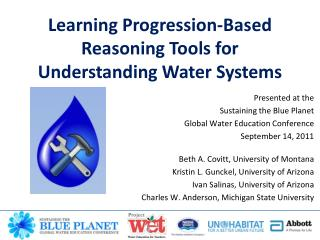 Learning Progression-Based Reasoning Tools for Understanding Water Systems