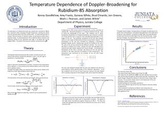 Temperature Dependence of Doppler-Broadening for Rubidium-85 Absorption