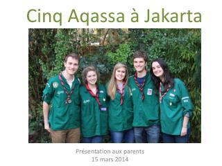Pr�sentation aux parents 15 mars 2014