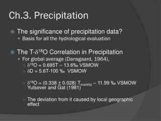 Ch.3.  Precipitation