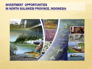 INVESTMENT   OPPORTUNITIES   IN N ORTH SULAWESI PROVINCE ,  INDONESIA