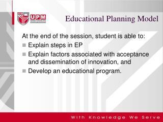 Educational Planning Model