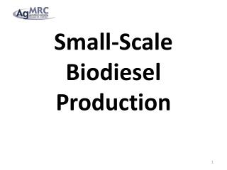 Small-Scale Biodiesel Production
