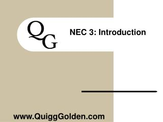 NEC 3 : Introduction