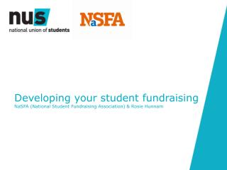 Developing your student fundraising