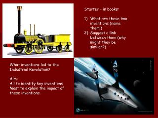 Starter – in books: What are these two inventions (name them!)