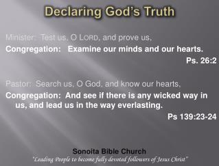 Declaring God�s Truth