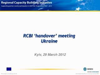 RCBI 'handover' meeting Ukraine