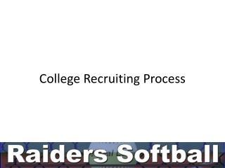College Recruiting Process