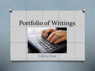 Portfolio of Writings