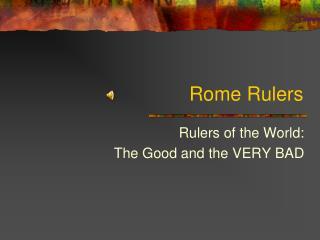 Rome Rulers