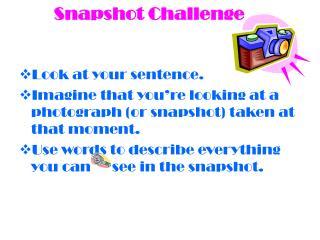 Snapshot Challenge