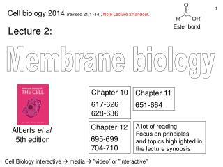Membrane biology