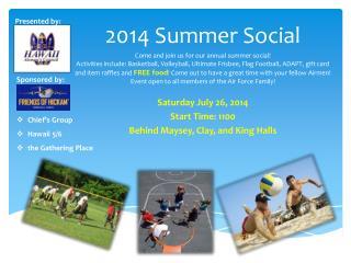 2014 Summer Social