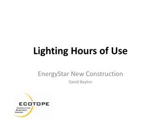 Lighting Hours of Use