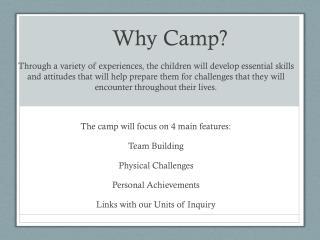 Why Camp?