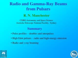 Radio and Gamma-Ray Beams from Pulsars