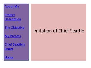 Imitation of Chief Seattle