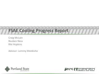 FSAE Cooling Progress Report