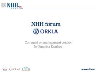 NHH forum