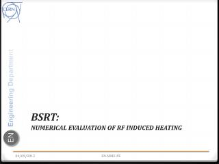 BSRT : numerical  evaluation of  RF induced heating