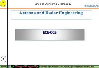 Antenna and Radar Engineering