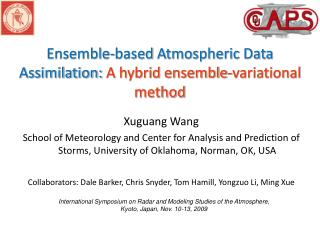 Ensemble-based  Atmospheric Data Assimilation: A hybrid ensemble- variational  method