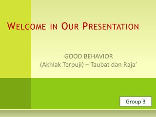 Welcome in Our Presentation