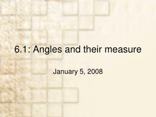 6.1: Angles and their measure