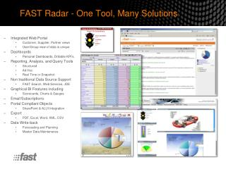 FAST Radar - One  Tool, Many Solutions