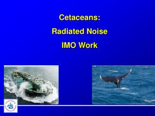 Cetaceans: Radiated  Noise IMO Work